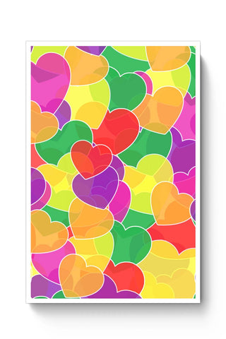 Posters Online | Color Me Heart Poster Online India | Designed by: Shweta Paryani