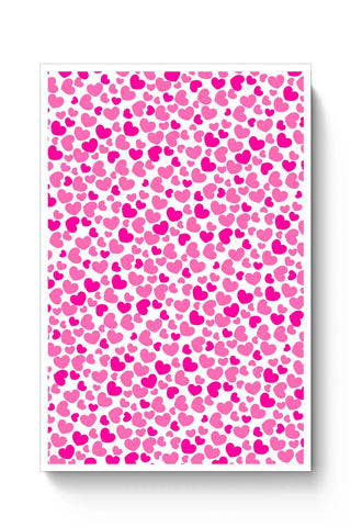 Posters Online | Pink Hearts Pattern Poster Online India | Designed by: Shweta Paryani