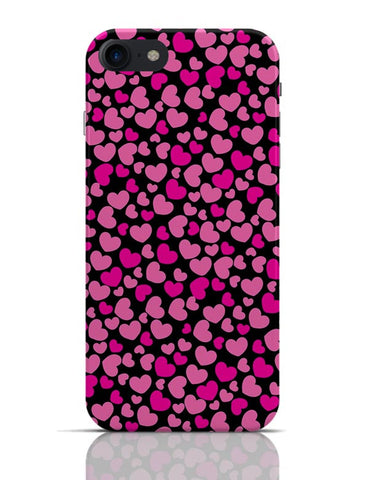 Pink Hearts Pattern iPhone 7 Covers Cases Online India