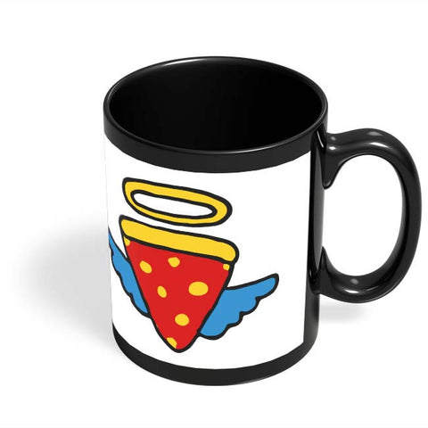 Coffee Mugs Online | Pizza Angel Black Coffee Mug Online India