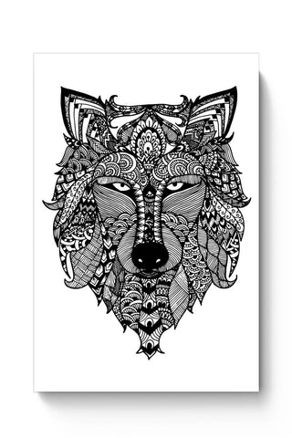 Posters Online | Zen Wolf Poster Online India | Designed by: Shweta Paryani