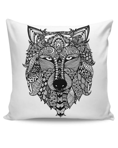 PosterGuy | Zen Wolf Cushion Cover Online India