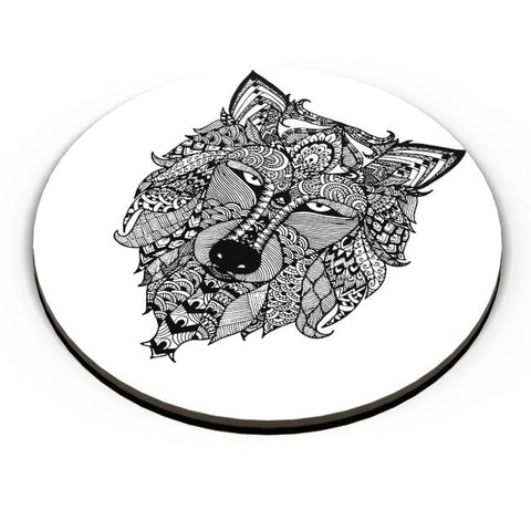 PosterGuy | Zen Wolf Fridge Magnet Online India by Shweta Paryani