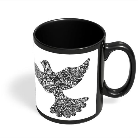 Coffee Mugs Online | Freedom Zen Bird Black Coffee Mug Online India