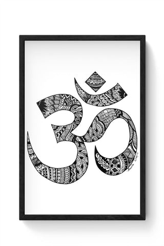 Framed Posters Online India | Zen Om Framed Poster Online India