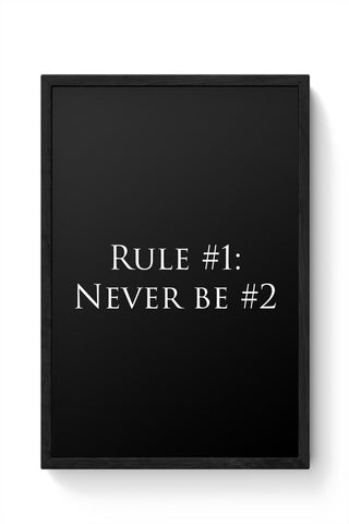 Framed Posters Online India | Rule No. 1 Framed Poster Online India