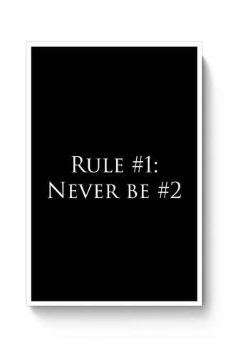 Posters Online | Rule No. 1 Poster Online India | Designed by: Shweta Paryani