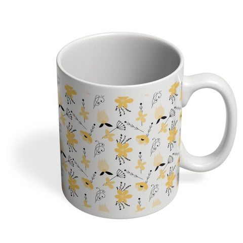 Elegant Flower Pattern Coffee Mug Online India
