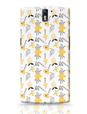 Elegant Flower Pattern OnePlus One Covers Cases Online India