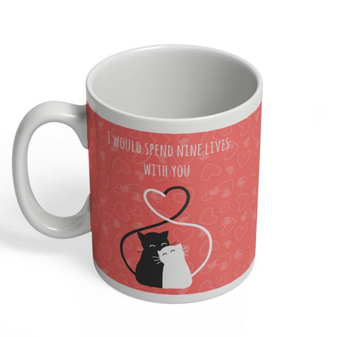 Valentine's Cats Coffee Mug Online India