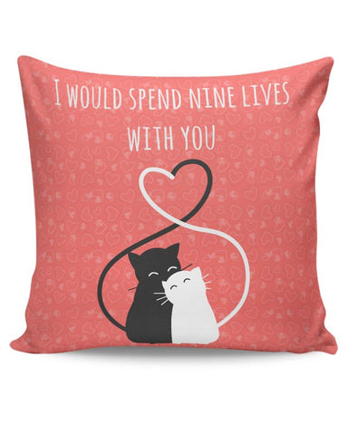Valentine's Cats Cushion Cover Online India