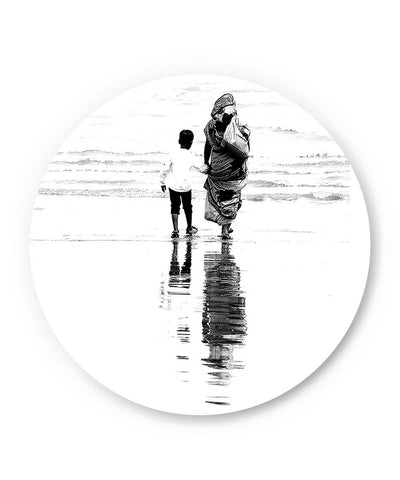 Mother and Son Illustration Fridge Magnet Online India