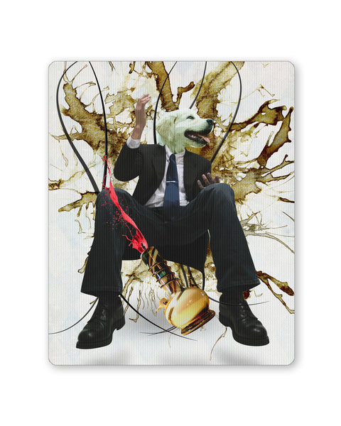 Mouse Pads | Dog's Face on Man's Body Ganja Design Mouse Pad Online India | PosterGuy.in