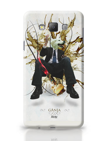 Samsung Galaxy A7 Covers | Dog's Face on Man's Body Ganja Design Samsung Galaxy A7 Covers Online India