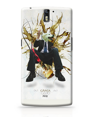 OnePlus One Covers | Dog's Face on Man's Body Ganja Design OnePlus One Cover Online India