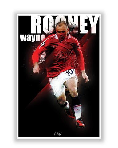 Buy Sports Posters Online | Wayne Rooney Football Fan Art Poster | PosterGuy.in