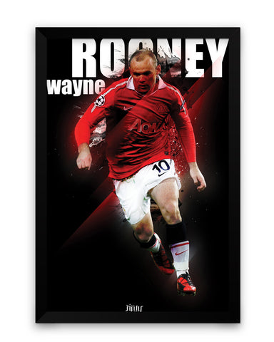 Wayne Rooney Football Fan Art Framed Poster Online India