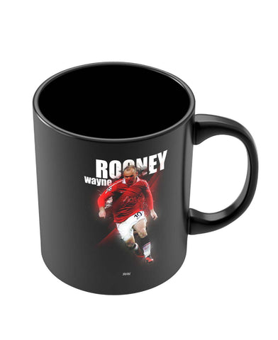 Black Coffee Mugs | Wayne Rooney Football Fan Art Black Coffee Mug Online India