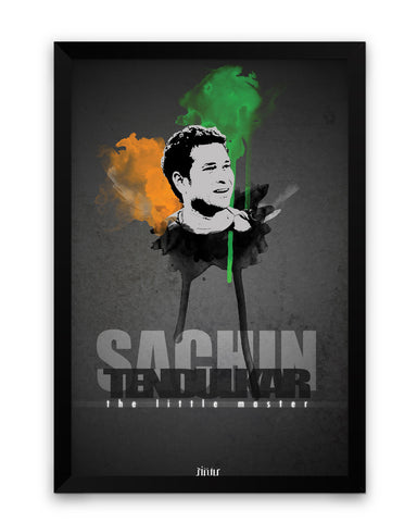 Sachin Tendulkar The Little Master  Framed Poster Online India
