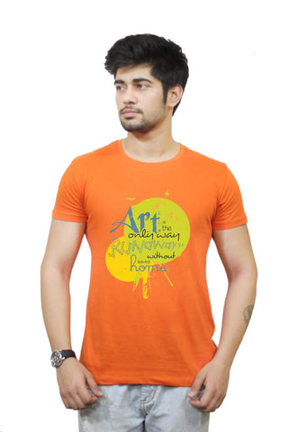 Buy Funny T-Shirts Online India | Art The Only Way T-Shirt Funky, Cool, T-Shirts | PosterGuy.in