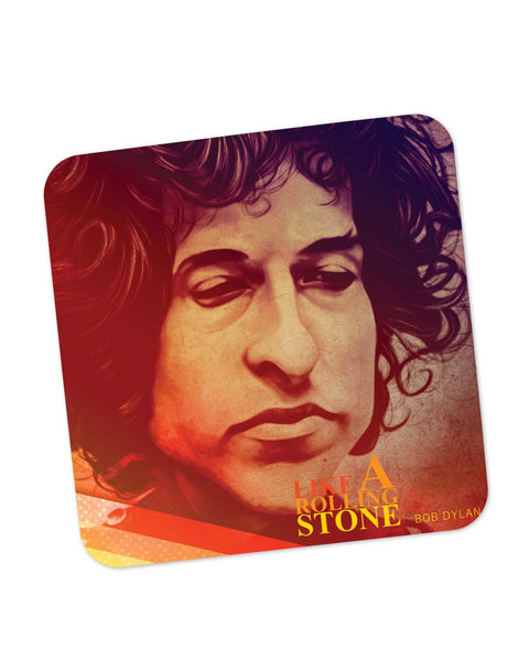 Coasters | Like a Rolling Stone Bob Dylan Purple Hue Coaster 1483047329 Online India | PosterGuy.in