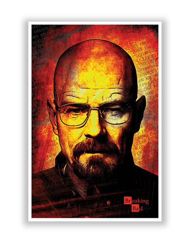 Posters | Breaking Bad Walter White Illustration Poster Online India