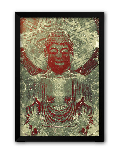 Framed Posters | Lord Buddha Peaceful Laminated Framed Poster Online India