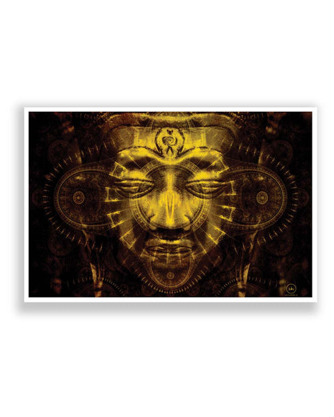 Posters | Lord Buddha Warm Golden Poster Online India