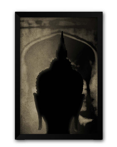 Framed Posters | The Temple Of Peace Lord Buddha( Dark) Laminated Framed Poster Online India