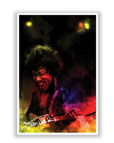 Posters | Jimi Hendrix Quirky Abstract Painting Poster Online India