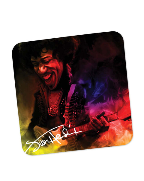 Coasters | Jimi Hendrix Quirky Abstract Painting Coaster 1483347329 Online India | PosterGuy.in