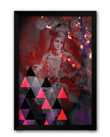 Framed Posters | Lord Krishna Reprise Laminated Framed Poster Online India