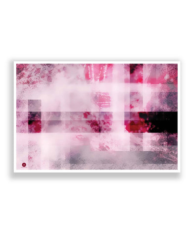 Posters | Mind Scrape Abstract Art (Pink) Poster Online India