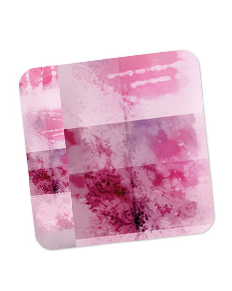 Coasters | Mind Scrape Abstract Art (Pink) Coaster 1483418329 Online India | PosterGuy.in