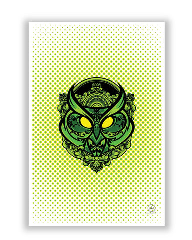 Posters | Pop Art owl (Green) Poster Online India