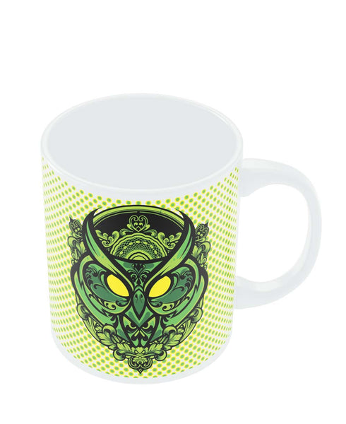 Mugs | Pop Art owl (Green) Mug Online India