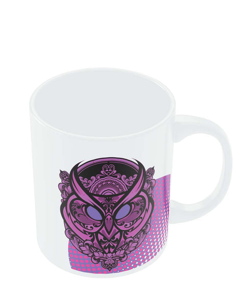 Mugs | Pop Art Owl Eccentric (Purple) Mug Online India