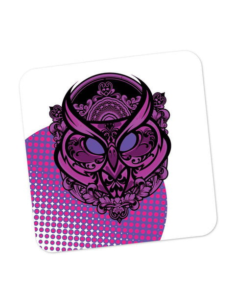Coasters | Pop Art Owl Eccentric (Purple) Coaster 1483468329 Online India | PosterGuy.in