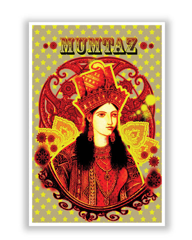 Posters | Retro Mumtaz Mahal Painting Poster Online India