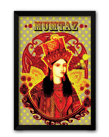 Framed Posters | Retro Mumtaz Mahal Painting Laminated Framed Poster Online India