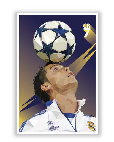 Posters | Pixelated Ronaldo Graphic Illustration Poster Online India