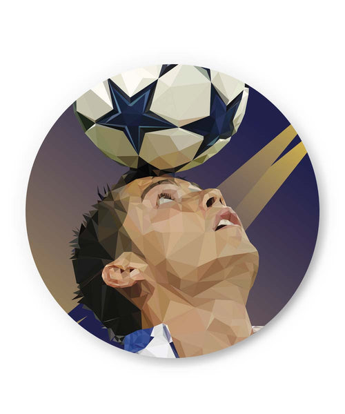 PosterGuy | Pixelated Ronaldo Graphic Illustration Fridge Magnet 1483487519 Online India