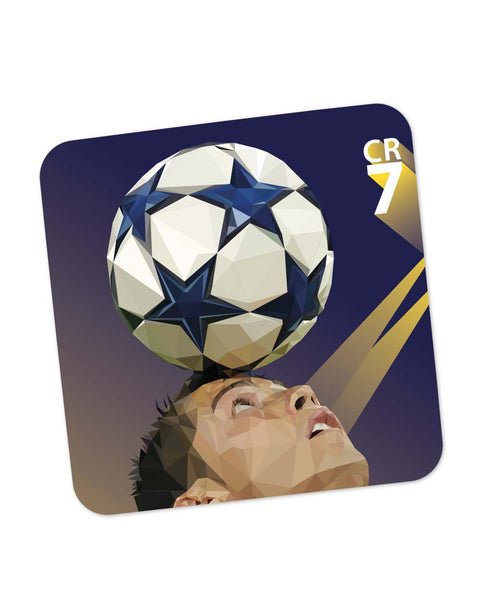 Coasters | Pixelated Ronaldo Graphic Illustration Coaster 1483487529 Online India | PosterGuy.in