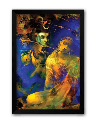 Framed Posters | Lord Shive The Auspicious One Laminated Framed Poster Online India