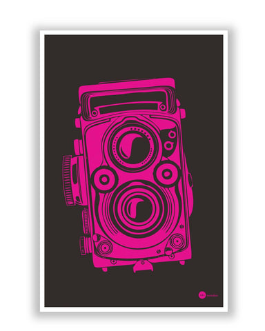 Posters | Shoot Me Pop Art Camera (Pink) Poster Online India