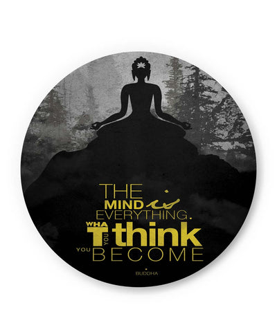 PosterGuy | The Mind is Everything Lord Buddha Quote Fridge Magnet 1483656019 Online India