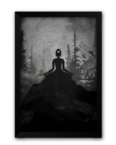 Framed Posters | Lord Buddha Meditating Laminated Framed Poster Online India