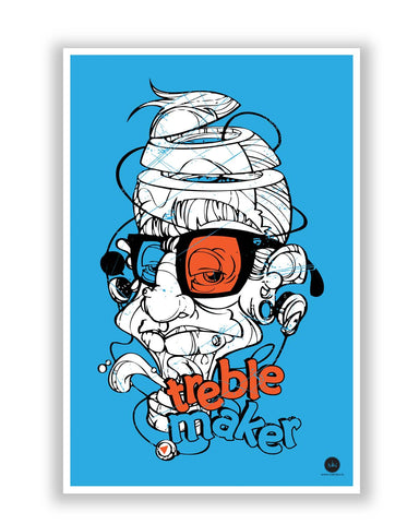 Posters | Treble Maker Quirky Illustration Poster Online India