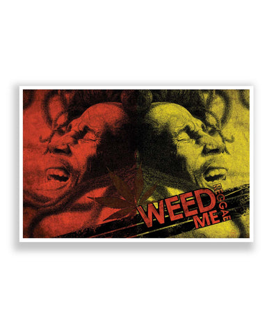 Posters | Weed Me Reggae Bob Marley (Red and Green) Poster Online India