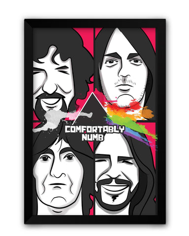 Framed Posters | Comfortably Numb | Pink Floyd Laminated Framed Poster Online India